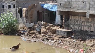 السيول تتسبب بأضرار كبيرة في ممتلكات المواطنين بخنفر