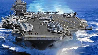 تسنيم: قواعد وحاملات طائرات أمريكية في مرمى الصواريخ الإيرانية
