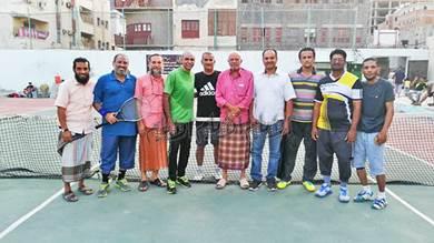 تواصل منافسات بطولة عدن المفتوحة لتنس الميدان بعدن