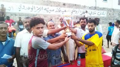منتخب دلتا خنفر يهدي كأس أكتوبر لمنتخب دلتا تبن