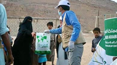 مركز الملك سلمان يوزع 1,500 كرتون من اللحوم في مديريتي نهم وبني ضبيان بمحافظة صنعاء