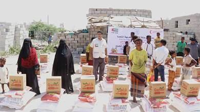 24 طن مساعدات غذائية من الإمارات لشبوة