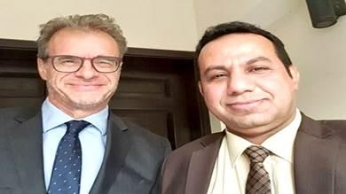 ممثل خارجية الانتقالي يلتقي السفير الفرنسي لدى اليمن