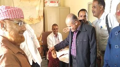 مأمور حبيل جبر يطلع على ترميمات مستشفى المديرية