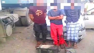 ضبط عصابة متخصصة بسرقة بطاريات القاطرات بلحج