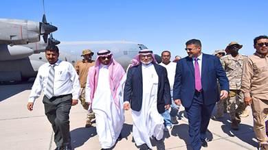 فريق من البرنامج السعودي للتنمية والإعمار يصل عدن