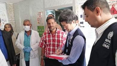 وفد من الصحة العالمية يتفقد قسم الكوليرا بمستشفى ردفان العام