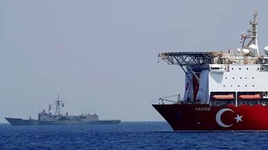 تركيا تجري مناورات بحرية شرقي المتوسط بالاشتراك مع هذه الدول