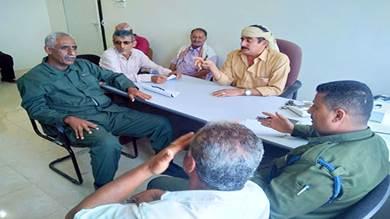 لقاء لمناقشة الوضع الأمني في مديريات لحج