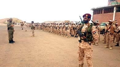 «الدعم والإسناد» تقيم عرضا عسكريا وترفع الجهازية القتالية