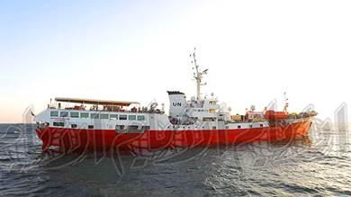مراقبو الأمم المتحدة بالحديدة عالقون في البحر منذ 3 أسابيع