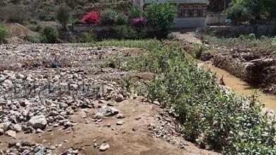 السيول تخلف أضراراً كبيرة في الضالع والمواطنون يناشدون