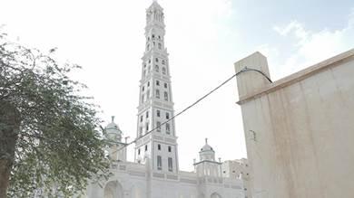 جامع المحضار وقبته الشهيرة احد معالد المدينة