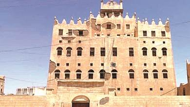 قصر ذيبان الطيني في محافظة شبوة اليمنية