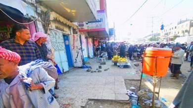 انفجار عبوة ناسفة في سوق بير باشا بتعز