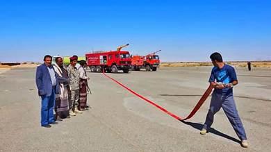 دخول عربات إطفاء جديدة للخدمة بمطار عتق