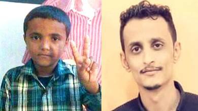 الطالب محسن عبدالمنعم والطفل عواس راج