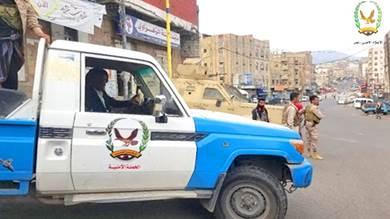 حملة أمنية بتعز تستعيد سيارة منظمة دولية اختطفها مسلحون