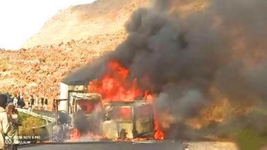 حادث مروري مروع يودي بحياة 13 شخصا في إب
