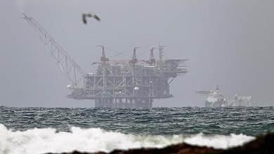 منصة ليفياثان للغاز قبالة الساحل الإسرائيلي