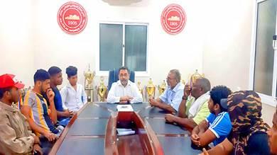 إدارة نادي التلال تلتقي فريق رفع الاثقال لمناقشة تحضيراته لبطولة الأندية