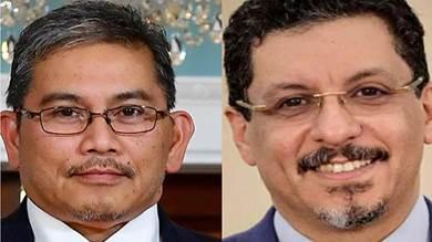 د. أحمد عوض بن مبارك اليوم الأربعاء مع وزير خارجية سلطنة بروناي دار السلام يوسف