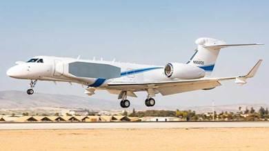 الطائرة من طراز غلف ستريم جي 500 الأميركي | Source: @IAFsite