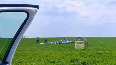 صورة لموقع تحطم الطائرة بباريس