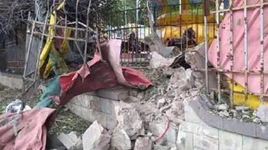 آثار الانفجار