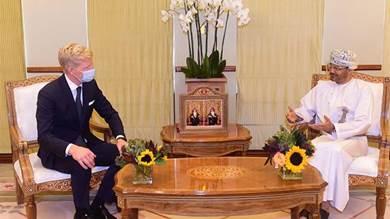وزير الخارجية العمانية خلال لقاءه هانس جروندبرج
