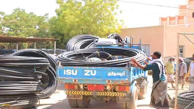توزيع شبكات ري حديثة لـ 242 مزارعا بمديرية تريم