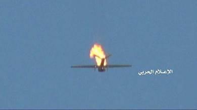"""صورة بثتها قناة """"المسيرة"""" للطائرة سكان إيجل"""