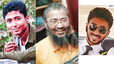 من اليمين: جهاد ، الإمام وهيب عبدالجليل،أسامة
