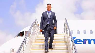 رئيس الوزراء يعود إلى عدن بعد اختتام أعمال القاهرة