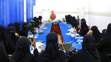 تدريب 30 امرأة بالمكلا على سبل الحفاظ على البيئة