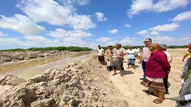 اعتماد إزالة الترسبات الرملية من خط وادي أحور