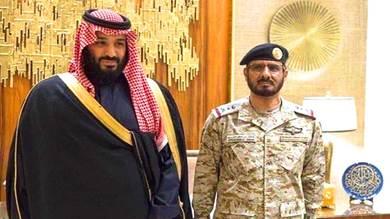 ولي العهد السعودي محمد بن سلمان مع الفريق الركن مطلق الأزيمع