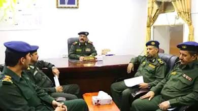 إجراء عملية التسليم والاستلام في شرطة وادي حضرموت