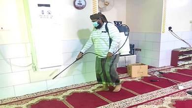 المهرة.. بدء تعقيم المساجد والوحدات الصحية والمدارس