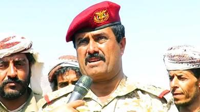 العميد علي صالح الكليبي قائد اللواء 19 مشاة في بيحان سابقاً