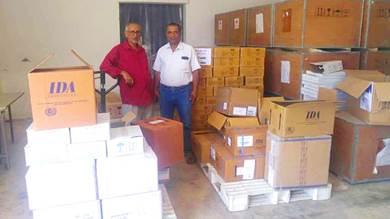 توزيع أدوية لمكاتب الصحة في الضالع وأبين وعدن