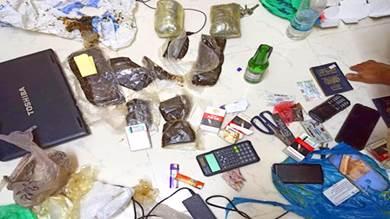 ضبط عصابة تروج للمخدرات في لحج